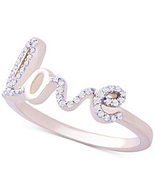 Wrapped™ Diamond Love Ring (1/6 ct. t.w.) in 14k Gold, Created for Macy's