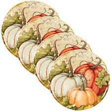 Certified International Autumn Fields 4-Pc. Dinner Plate Set