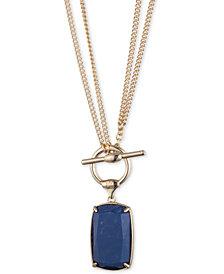 """Lauren Ralph Lauren Stone Convertible Pendant Necklace, 18"""" or 36"""""""