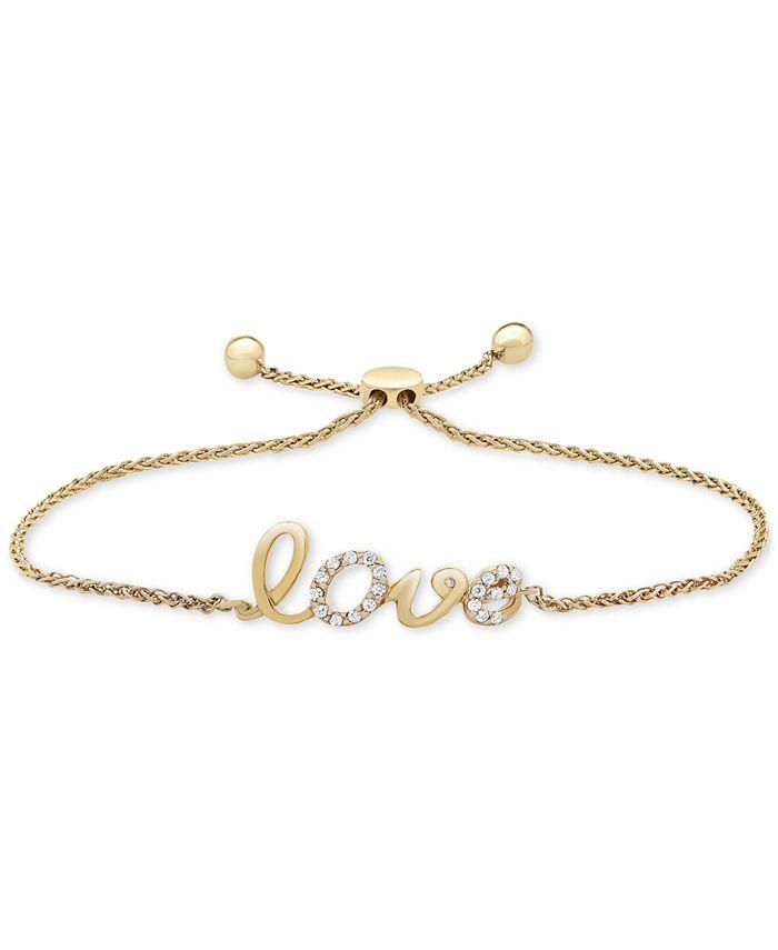 Wrapped in Love - Diamond Love Bolo Bracelet (1/10 ct. t.w.) in 14k Gold
