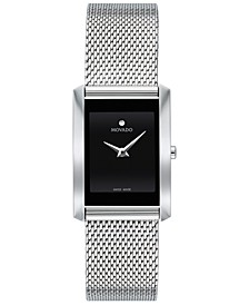 Women's Swiss La Nouvelle Stainless Steel Mesh Bracelet Watch 21x29mm