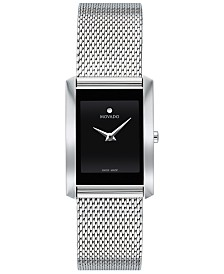 Movado Women's Swiss La Nouvelle Stainless Steel Mesh Bracelet Watch 21x29mm
