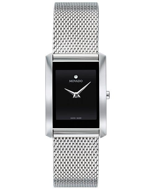 Movado Women's Swiss La Nouvelle Stainless Steel Mesh Bracelet Watch 21x29mm