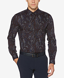 Perry Ellis Men's Regular-Fit Performance Stretch Paisley Shirt