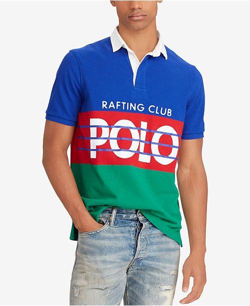 02653896bdf37a Polo Ralph Lauren Men's Hi Tech Colorblocked Classic Fit Rugby Polo Shirt