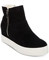 5ec324a2e1f Steve Madden Wanda Faux-Fur Wedge Sneakers