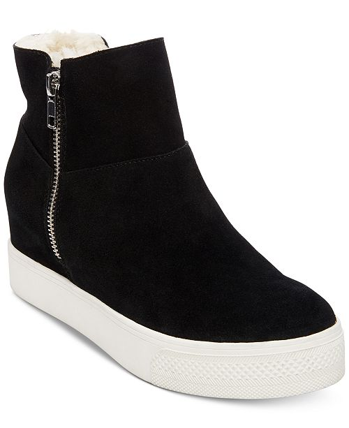 b9009ea04d6 Steve Madden Wanda Faux-Fur Wedge Sneakers   Reviews - Athletic ...