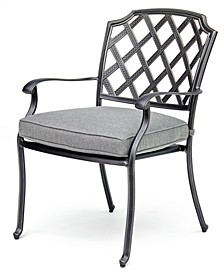 Grove Hill II Cast Aluminum Outdoor Dining Chair With Sunbrella® Cushion, Created For Macy's