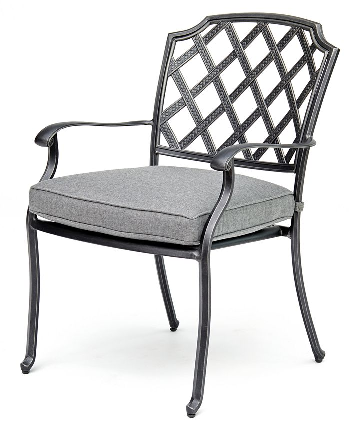 Furniture - Vintage II Aluminum Outdoor Dining Chair With Sunbrella® Cushion