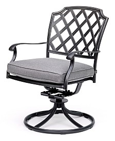 Grove Hill II Cast Aluminum Outdoor Swivel Chair With Sunbrella® Cushion, Created For Macy's