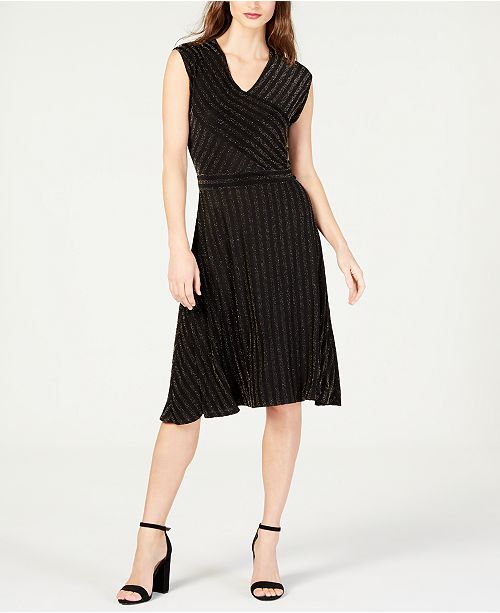 f6f6bd4736d NY Collection Petite Ribbed A-Line Dress - Dresses - Petites - Macy s