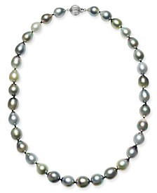 "Multicolor Cultured Tahitian Pearl (10-12mm) 17"" Collar Necklace"