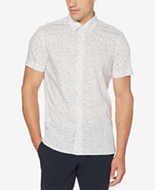 Perry Ellis Men's Regular-Fit Performance Stretch Geo-Print Shirt