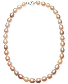 "Pink Cultured Freshwater Pearl (9mm) 18"" Collar Necklace"