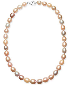 """Pink Cultured Freshwater Pearl (9mm) 18"""" Collar Necklace"""