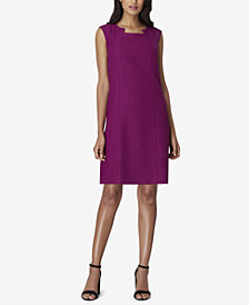 Tahari ASL Dart-Front Shift Dress
