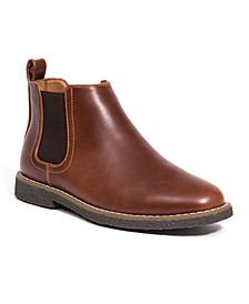 Little and Big Boys Zane Memory Foam Dress Comfort Chelsea Boot