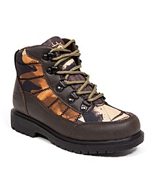 Little and Big Boys Hunt Boy's Rugged Thinsulate Water Resistant Camo Hiker Boot