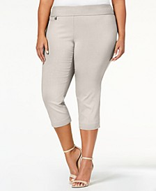 Plus Size Tummy-Control Capri Pants, Created for Macy's