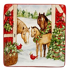 Christmas on the Farm Square Platter