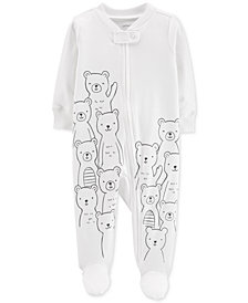Carter's Baby Girls & Boys Bear-Print Cotton Sleep & Play
