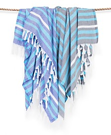 Linum Home Elegant Stripe Pestemal Beach Towel
