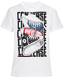 Converse Big Boys Sneaker Stack Graphic T-Shirt