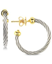 CHARRIOL Hoop Earrings in Stainless Steel & Gold-Tone PVD Stainless Steel