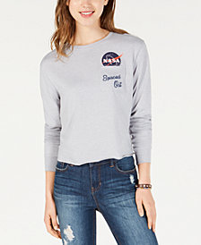 Love Tribe Juniors' NASA Spaced Out Pocket T-Shirt