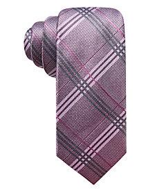Ryan Seacrest Distinction™ Men's Portofino Plaid Slim Silk Tie, Created for Macy's