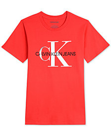 Calvin Klein Big Boys Bold School Logo Graphic T-Shirt