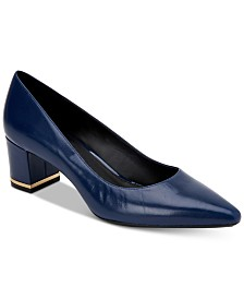 Calvin Klein Women's Nita Block-Heel Pumps