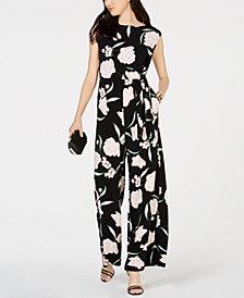 Jessica Howard Floral-Print Jumpsuit