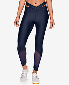 Under Armour HeatGear® Cutout Mesh-Inset Ankle Leggings