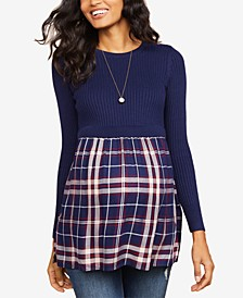 Layered-Look Sweater