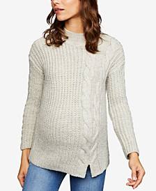 Maternity Mockneck Sweater