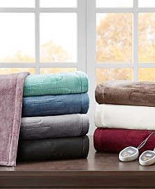 Beautyrest Heated Plush Blanket Collection