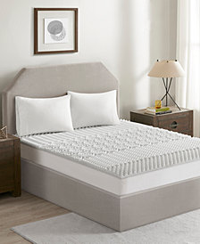 "Flexapedic by Sleep Philosophy Graphite 1.5"" 5-Zone Reversible Memory Foam Queen Mattress Topper"