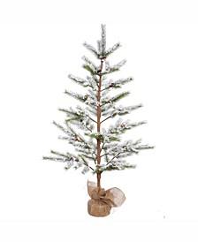 5 ft Flocked Desert Pine Artificial Christmas Tree Unlit