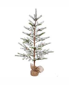 Vickerman 5 ft Flocked Desert Pine Artificial Christmas Tree Unlit