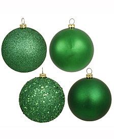 "Vickerman 3"" Christmas Green 4-Finish Ball Christmas Ornament, 32 Per Box"