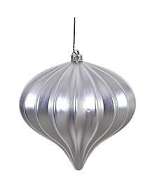 "5.7"" Silver Matte Onion Christmas Ornament"