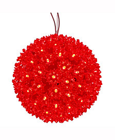 "Vickerman 6"" Starlight Sphere Christmas Ornament With Red Wide Angle Led Lights"