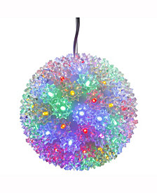 "Vickerman 7.5"" Starlight Sphere Christmas Ornament With 100 Multi-Colored Wide Angle Led Lights"