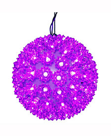 "Vickerman 7.5"" Starlight Sphere Christmas Ornament With 100 Purple Wide Angle Led Lights"