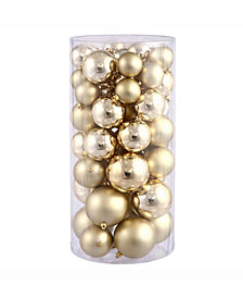 "Vickerman 2.4""-3""-4"" Gold Shiny/Matte Ball Christmas Ornament"