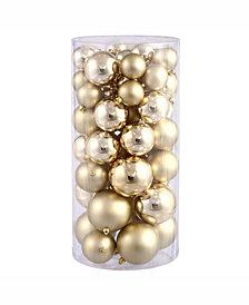 "Vickerman 2.4""-3""-4"" Gold Shiny/Matte Ball Christmas Ornament"