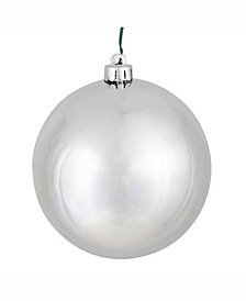 "2.4"" Silver Shiny Ball Christmas Ornament, 24 Per Bag"