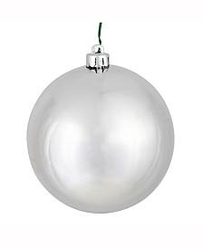 "Vickerman 2.4"" Silver Shiny Ball Christmas Ornament, 24 Per Bag"