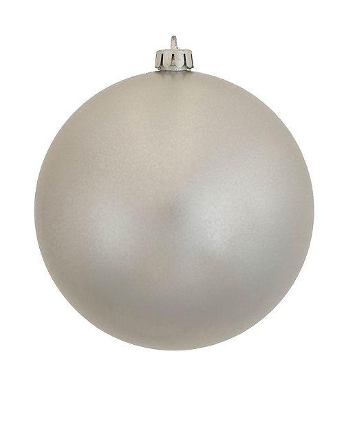 "Vickerman 12"" Silver Candy Ball Christmas Ornament"